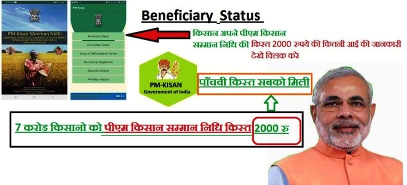 7 करोड़ किसानो को मिले 2000 रुपए Pm Kisan Samman Nidhi पाँचवी किस्त
