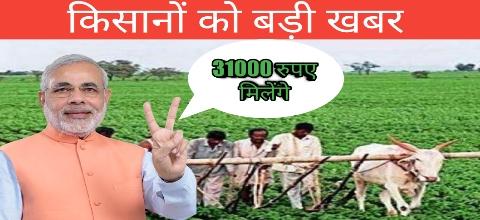 31000 रुपए मिलेगे किसानो को -करे ऑनलाइन अप्लाई -Pm Kisan