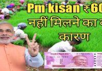 पीएम किसान सम्मान निधि योजना :इस गलती से किसानो को नहीं मिले 6000 रुपए ,ऐसे करे सुधार